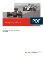 BAIN BRIEF Strategy Beyond Scale