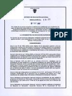 Maestria en Educaci Mano Ampliacion Tulua- Resol. Rc 19155 de 21 Sep. 2017