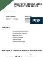 OFDM PAPR Reduction