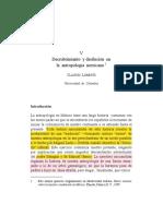 Lomnitz - Descubrimiento y Desilusion en La Antropologia Mexicana