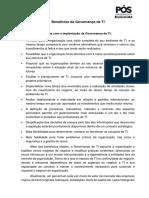 Texto - Benefícios Da Governança de TI