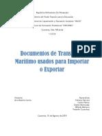 DOCUMENTOS DE TRANSPORTE MARITIMO
