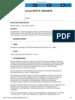 Rg 4523-19 Procedimiento. Sistema Integral de Retenciones Electrónicas (SIRE)