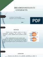 Îngrijirea Bolnavului Cu Cataractă