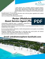 Guest Service Agent, Porter