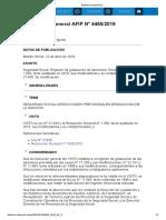 Rg 4465-19 Seguridad Social. Régimen de Graduación de Sanciones