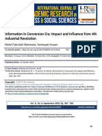 Information in Conversion Era Impact and Influence From 4th Industrial Revolution