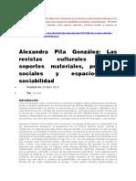 Alexandra Pita Las Revistas Culturales Como Soportes Materiales de Practicas Sociales