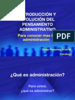 Historia Administración