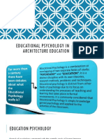 Educational Psychology in Architecture Education