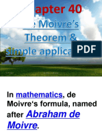 Ch40 de Moivres Theorem and Simple Application 2003 (1)