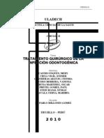 TRATAMIENTO QUIRÚRGICO DE LA INFECCIÓN ODONTOGÉNICA