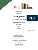 588 Apollinaire Le Pont Mirabeau
