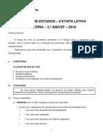 Roteiro Recuperacao 3 Ano EF Historia 2 Etapa 2018