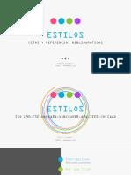 Estilos de Citas y Referencias Bibliograficas
