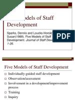 5 Models of Staff Developments of Teachers