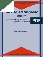 Capital as organic unity.