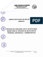 Convocatoria Red de Salud Abancay 1