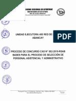 Convocatoria Red de Salud Abancay 2