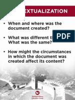 contextualization poster english