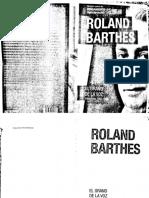 El grano de la voz. Roland Barthes