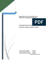 Medición de La Velocidad de Un Proyectil (Reporte)