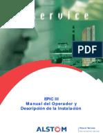 EPIC III - Manual Del Operador y Descripción de La Instalación