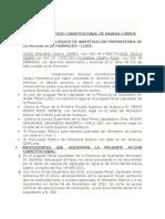 Modelo de Proceso Constitucional de Habeas Corpus