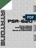 Manual Yamaha Psr620 Psr620e Español
