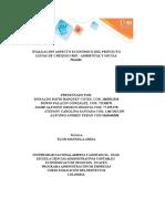 Evaluación Económica de Proyecto Sostenible