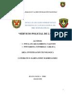 Trabajo de Invetigacion de Pnp Servicio de La Pnp