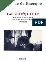 Baecque, Antoine de - La Cinéphilie