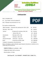 Cotización de Carpintería Metálica