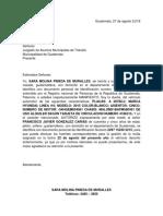Carta de Autorizacion de Vehiculo Multas