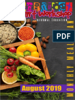 Menú Alimentario Brain Smart Workshop Agosto 2019