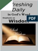 Emphasis on Wisdom September 2019