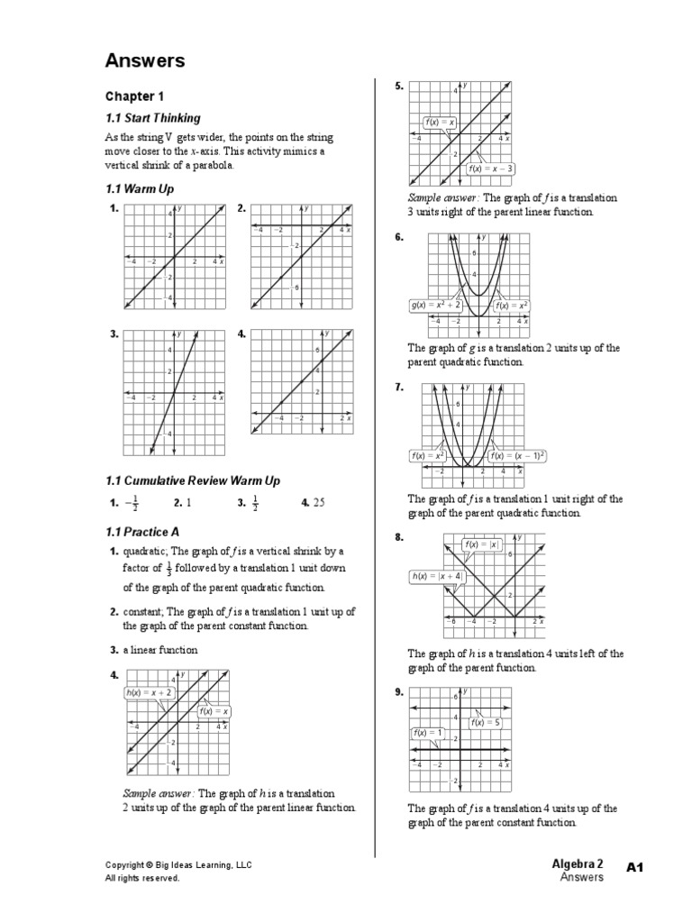Algebra 2_Big Ideas Math_student Journal Answers