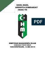 Draft Rak Hmi Komisariat Fekon Umrah