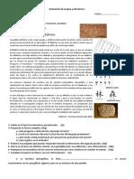 Evaluación de Lengua y Literatura I Texto Expositivo
