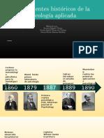 Antecedentes históricos de la psicología aplicada