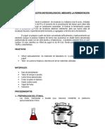 Obtencion de Productos Biotecnologicos Mediante La Fermentacion