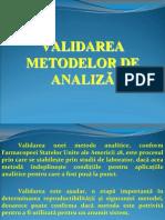 Validarea Metodelor de Analiza