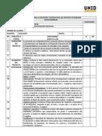 Lista de cotejo para evaluar proyectos de investigacion