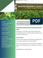 Avaliação Da Eficiência de Fungicidas Multi Sítios Sequenciais Para o Controle de Doenças Na Cultura Da Soja Em Lucas Do Rio Verde, Mt