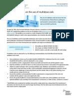 Updated Guidance Multidose Vials 2015