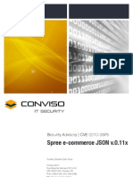 CVE-2010-3978 Spree E-commerce JSON Hijacking Vulnerabilities