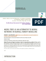 Model trees as an alternative to neural networks in rainfall runoff modelling