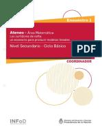 Secundaria Ateneo Didáctico 1 Ciclo Básico Matemática Carpeta Coordinador