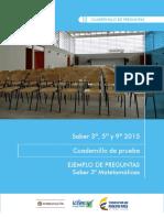 Ejemplos de Preguntas Saber 3 Matematicas 2015 v2