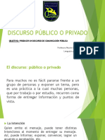 Discurso Público o Privado